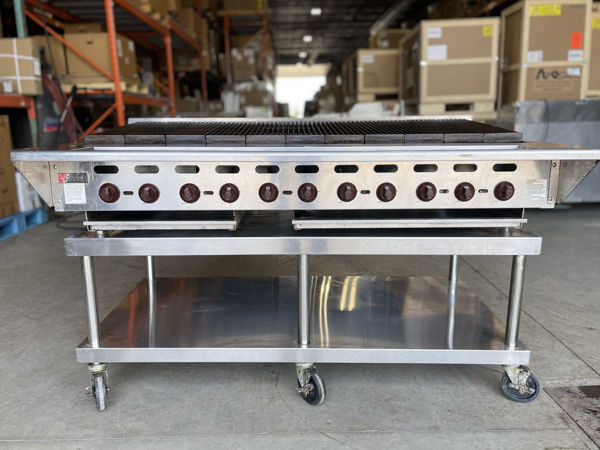 """Picture of Wolf ACB60 Heavy Duty 60"""" Countertop Natural Gas Charbroiler **USED"""